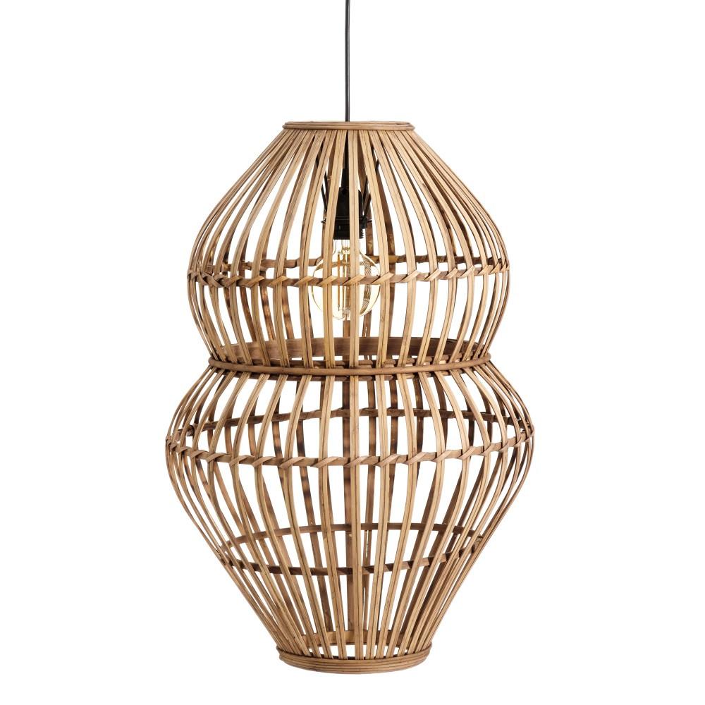 Lámpara colgante techo bambú
