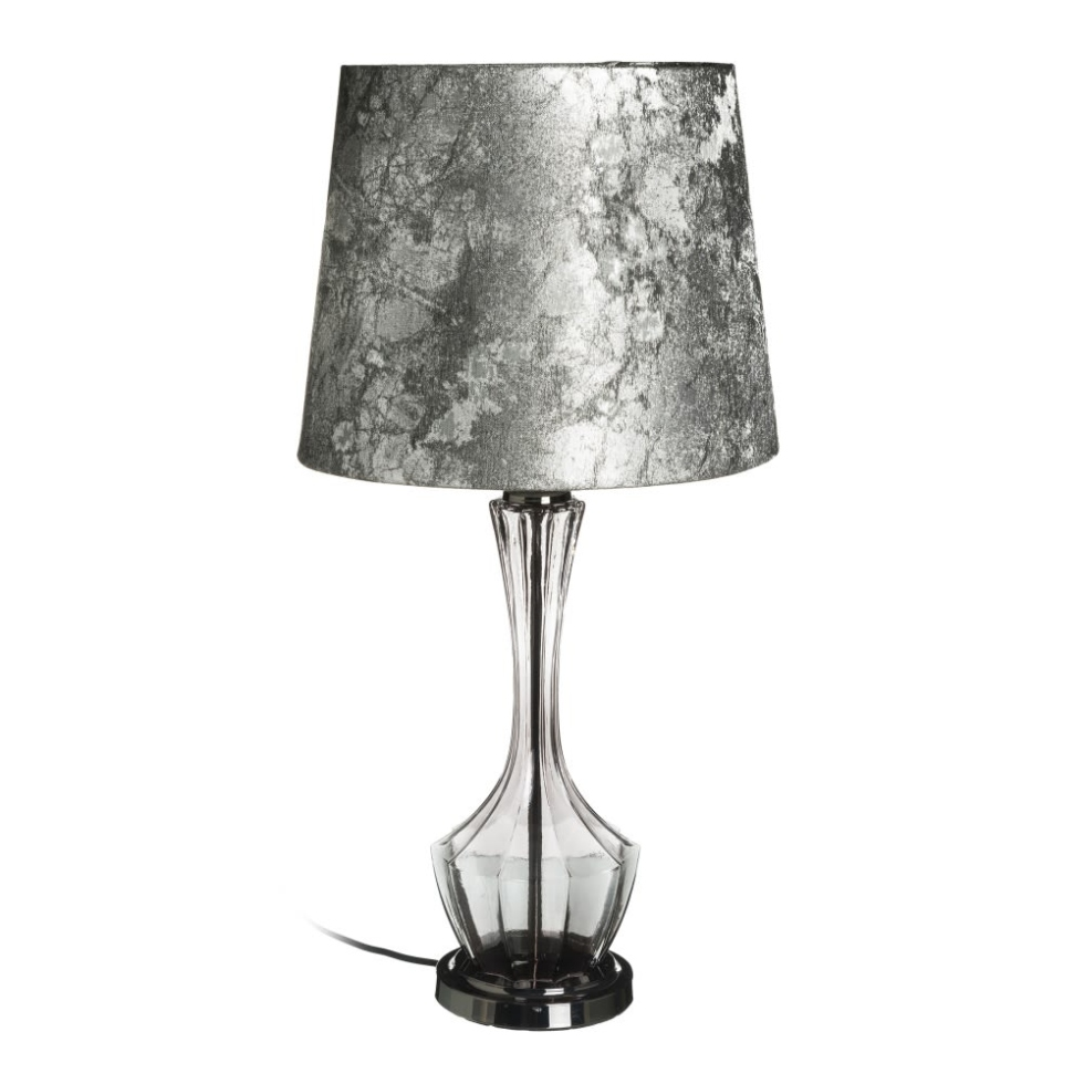 Lámpara sobremesa cristal gris