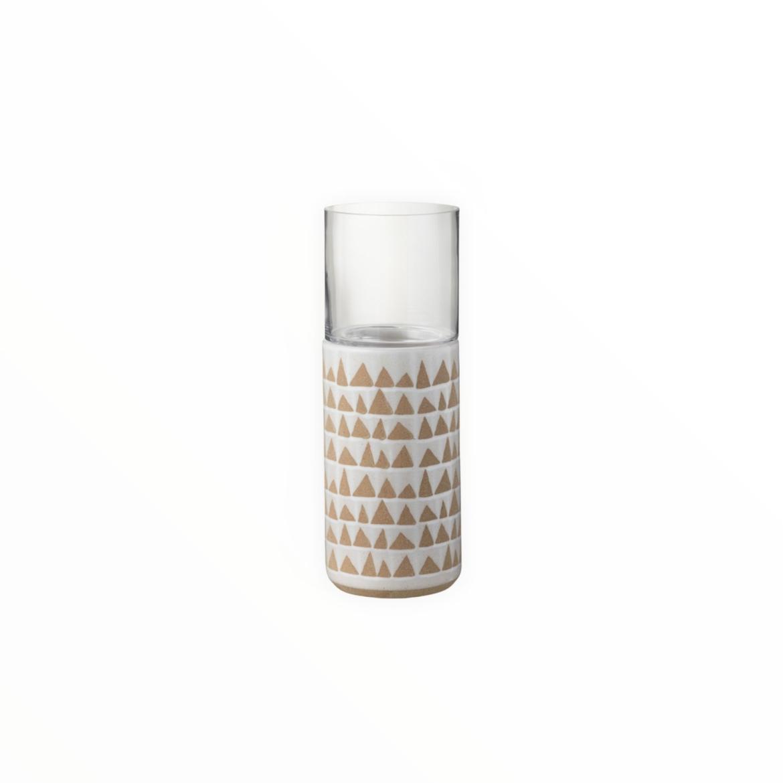 Portavela cerámica